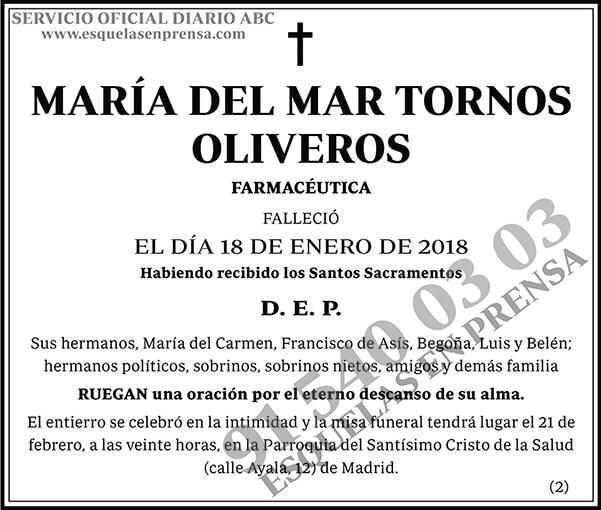María del Mar Tornos Oliveros